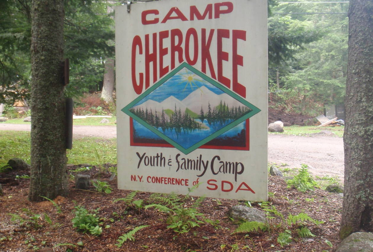 Camp Cherokee Welcome Sign
